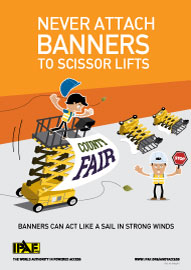 Andy Access - Never attach banners to scissor lifts